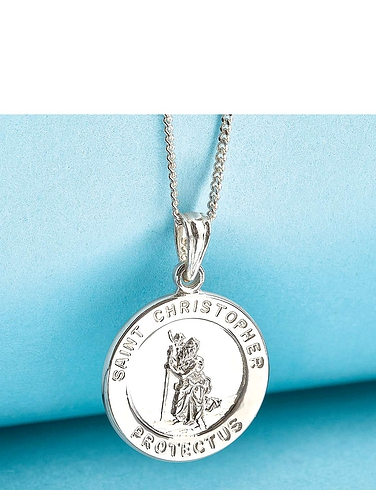 Sterling Silver St Christopher Pendant and Chain