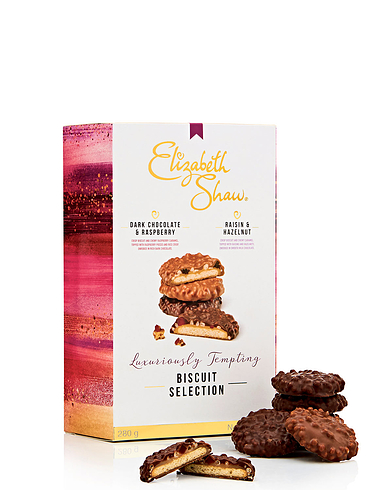Elizabeth Shaw Twin Pack Biscuit Selection  - Dark Chocolate