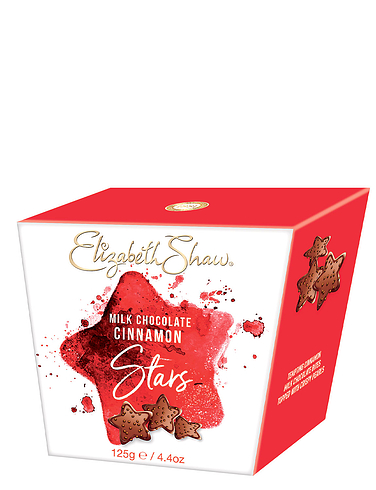 Elizabeth Shaw Milk Chocolate Cinnamon Stars