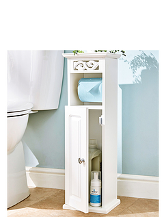 Scroll Toilet Roll Holder and Storage Cupboard