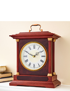 Wooden Carriage Mantel Clock