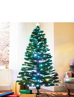 6 Foot LED and Fibre Tipped Tree With Star