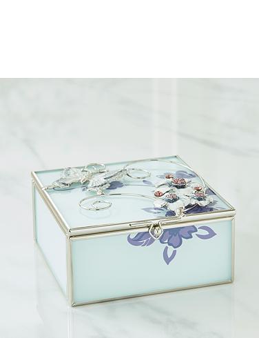 Sophia Glass & Wire Purple Butterfly Trinket Box