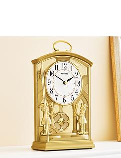 Gold Tone Pendulum Carriage Clock
