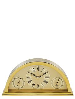 Gold Aluminium Cresent Mantle Clock
