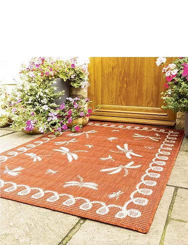 Dragonfly Indoor Outdoor Flatweave Rug