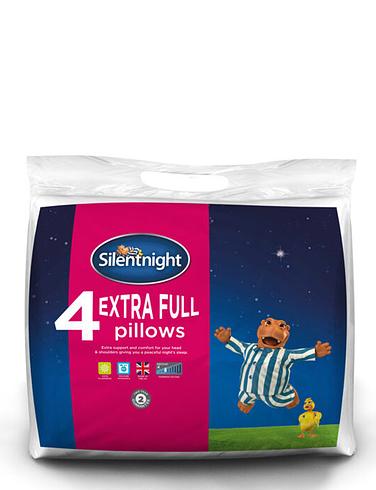 Pack of 4 Silentnight extra full pillows