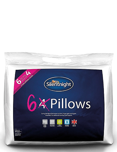 Pack Of 6 Pillows By Silentnight