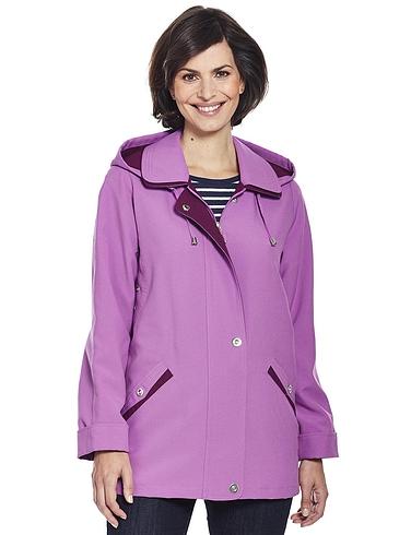 Zip Front Jacket With Hood