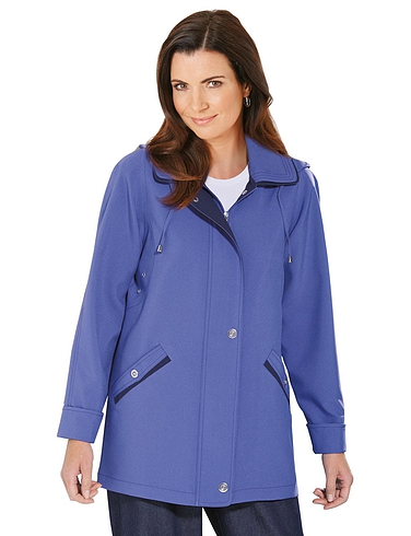 Zip Front Jacket With Hood
