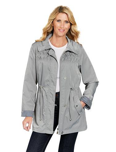 Lightweight Smocking DesignDrawcord Jacket