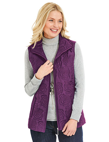 Embroidered Padded Gilet