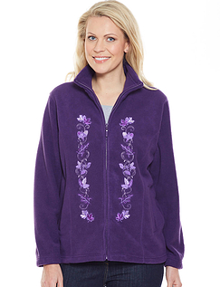 Embroidered Front Zip Fleece
