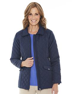 Ladies' Quilted Showerproof Spring Jacket