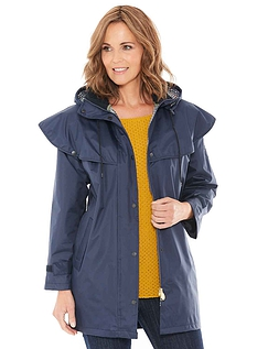 Ladies Three Quater Length Waterproof Cape Coat