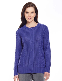 Ladies' Classic Cable Cardigan