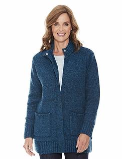 Fleece Lined Zip Cardigan