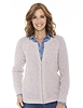 Ladies' Textured Marl Knit Zip Cardigan