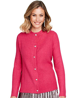 Gem Button Knitted Cardigan