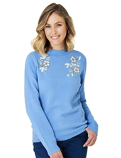 Knitted Embroidered Jumper