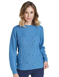 Knitted Cable and Bobble Jumper