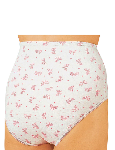 Pack Of Six Print Cotton Briefs - White