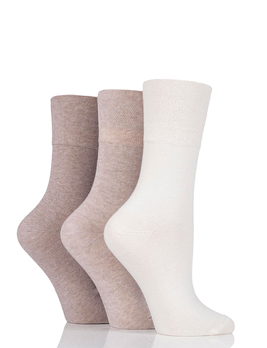 Pack of 6 Ladies Diabetic Gentle Grip Socks