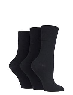 Ladies Pack Of 6 Gentle Grip Socks