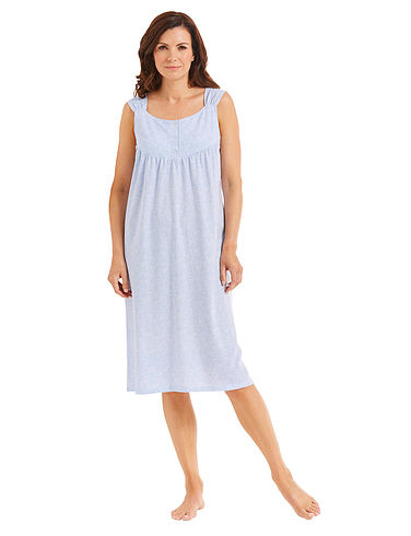 Spot Sleeveless Nightdress