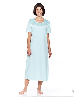 Print & Lace Trim Spot Nightdress