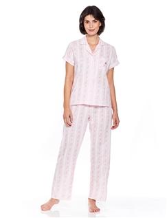 Stripe Embroidered Pyjama