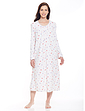 Lace Trim Fleece Print Nightdress