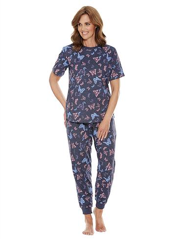 Butterfly Print Short Sleeve Pyjama