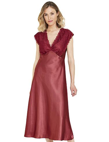 Luxury Satin and Lace Nightdress