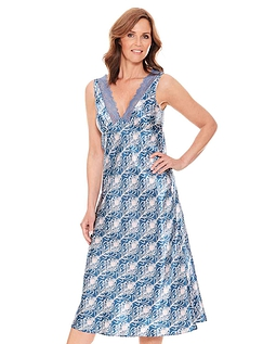 Luxury Satin Print Nightdress