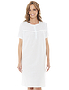 Short Sleeved Lace Trim Nightdress