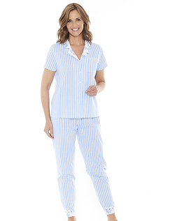 Ladies Stripe And Floral Pyjamas