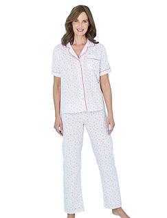 Floral Print Short Sleeve Pyjamas
