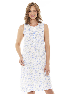 Floral Print Sleeveless Nightdress