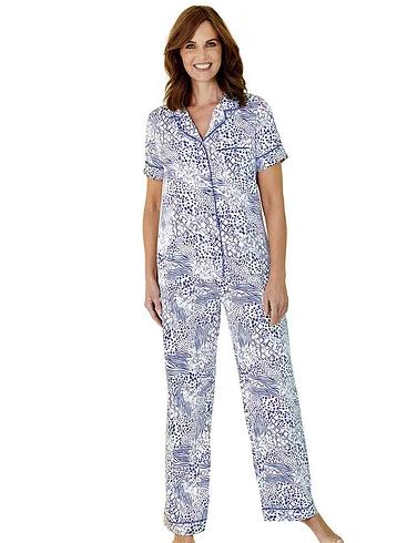 Short Sleeve Satin Pyjama