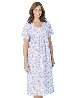 Floral Print Short Sleeve Nightdress