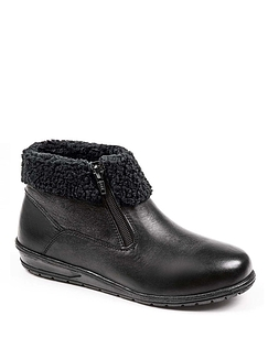 Ladies Leather Twin Zip Thermal Lined Boot