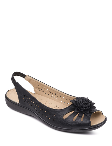 Slip On Open Toes Sandal With Elastic Heel Strap