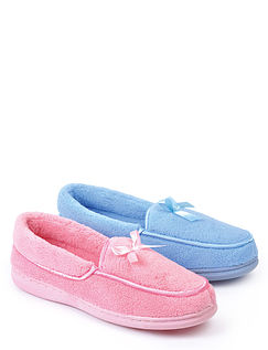Washable Twin Pack Slippers.