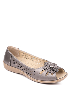 Open Toe Slip On Sandal