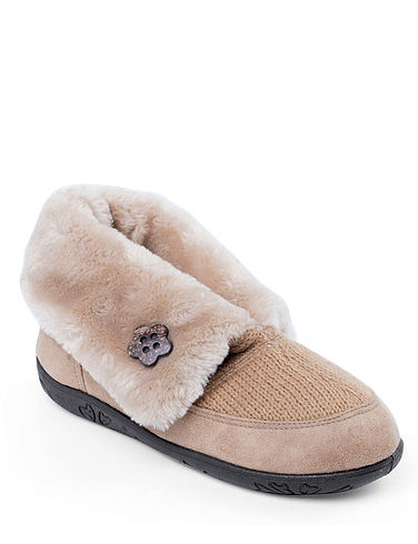 Padders 'Eden' Extra Wide 'EE' Fit Bootee Slipper