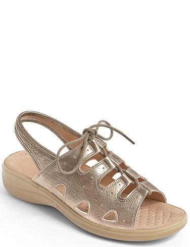 Lace Up Cushion Walk Adjustable Sandal