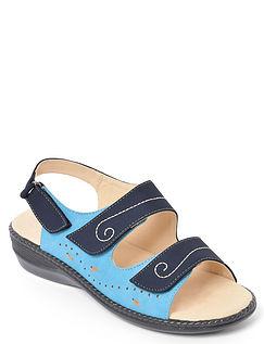 Triple Strap Touch Fasten Sandal