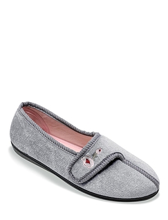 Velour Touch Fasten Slippers
