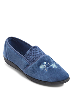 Slip on Washable Velour Slipper